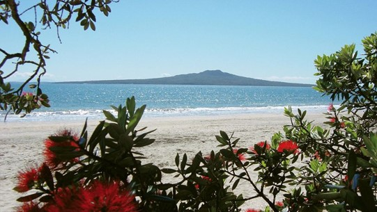 Rangitoto as seen from Auckland City
